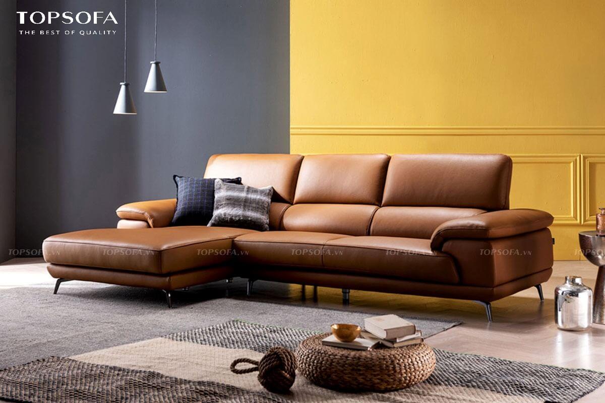 sofa góc da TS238 bọc da sang trọng
