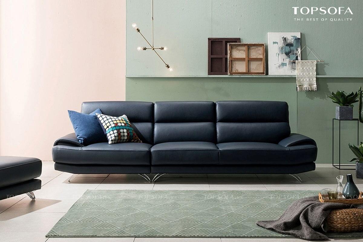 Mẫu sofa này có thiết kế nhỏ gọn, tay vịn chỉ hơi nhô lên cùng chân inox hơi choãi ra chắc chắn giúp người dùng dễ dàng nằm nghỉ mà không tốn nhiều diện tích