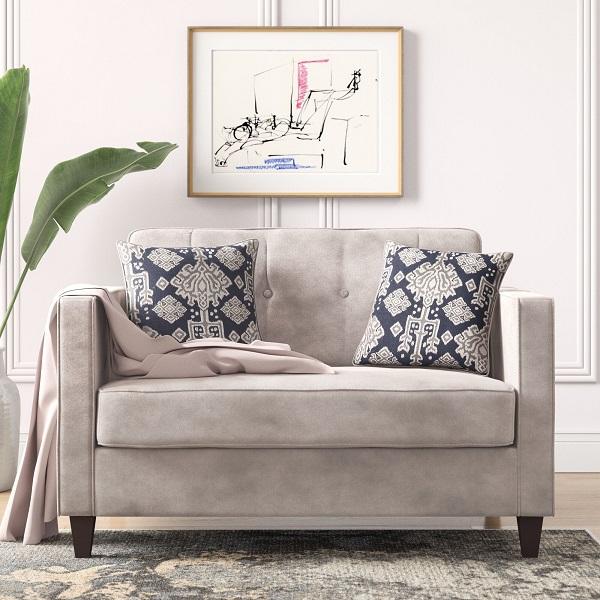 Không quá cầu kỳ trong kiểu cách nhưng chiếc ghế sofa đơn màu ghi sáng này đem lại sự tươi mới, rực rỡ cho căn phòng. Chất liệu nỉ nhung Hàn Quốc mềm mịn, cùng chân ghế có độ cao vừa phải giúp bạn dễ dàng vệ sinh, di chuyển trong quá trình sử dụng