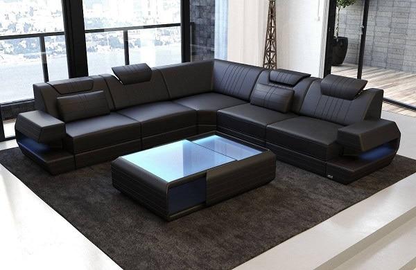 Sofa góc chữ V tạo cảm giác gần gũi, ấm cúng trong gia đình