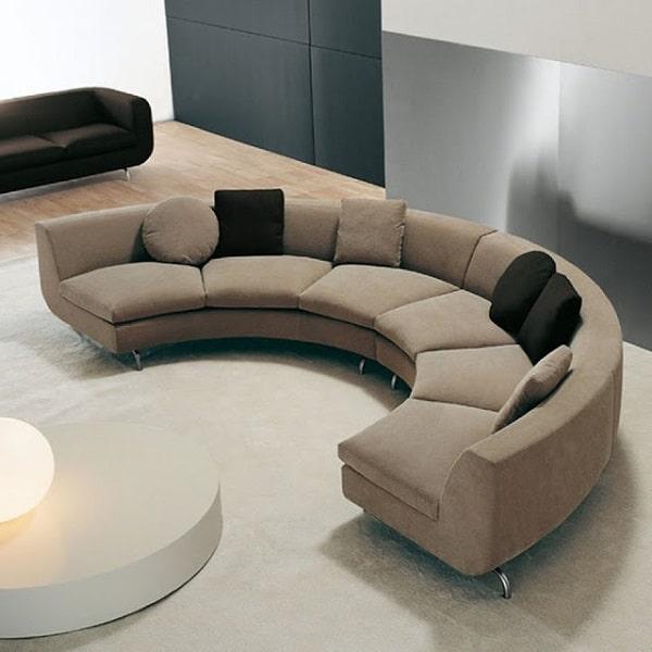 Sofa góc tròn chính là xu hướng mới của các gia đình hiện đại