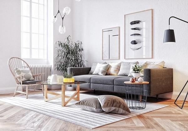 Phong cách Bắc âu giúp tạo điểm nhấn độc đáo, mang lại vẻ đẹp sang chảnh cho căn phòng.