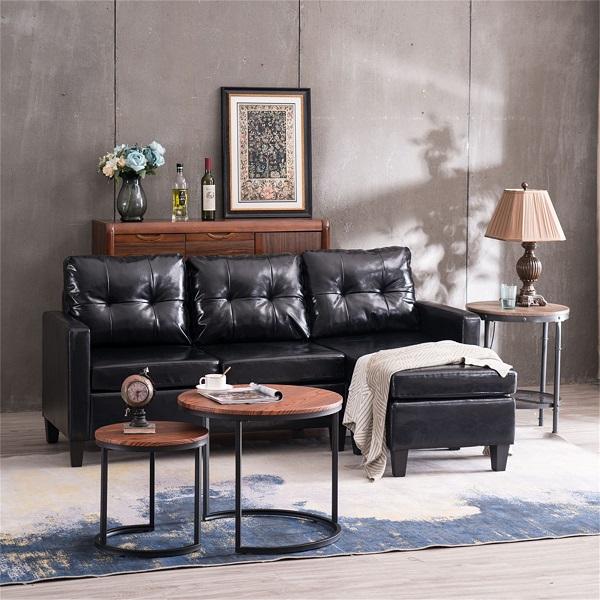 Để tạo sự đồng bộ và toát ra sự cao cấp, toàn bộ chân ghế gỗ cũng được sơn đen cho đồng màu với da bọc ghế