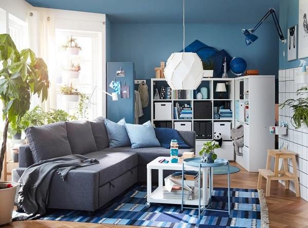 """Chỉ cần kéo phần dây thò ra giữa lớp đệm ghế là người dùng có thể """"hô biến"""" mẫu sofa góc này thành một chiếc giường nhỏ xinh, tiện dụng dành cho khách ngủ qua đêm"""