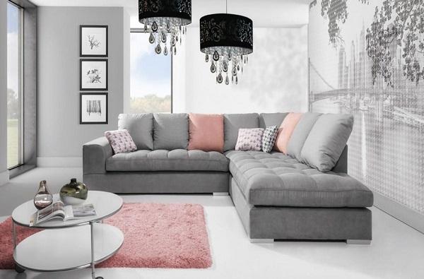 Phần lưng mẫu ghế sofa góc 2m2 này có thể di chuyển được và đệm chần bông tinh xảo mang lại sự êm ái, tiện lợi tối đa cho người dùng