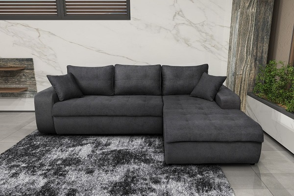 Những điểm nhấn sâu tinh tế ở phần đệm ngồi và gối tựa làm cho ghế sofa giàu tính thẩm mỹ và người dùng cũng cảm thấy thoải mái hơn