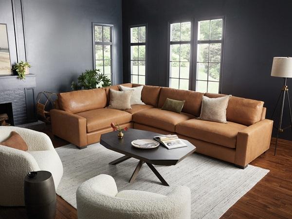 Sofa góc 2m4 chữ L được thiết kế phần đệm dày dặn mang lại sự êm ái, thoải mái khi sử dụng.