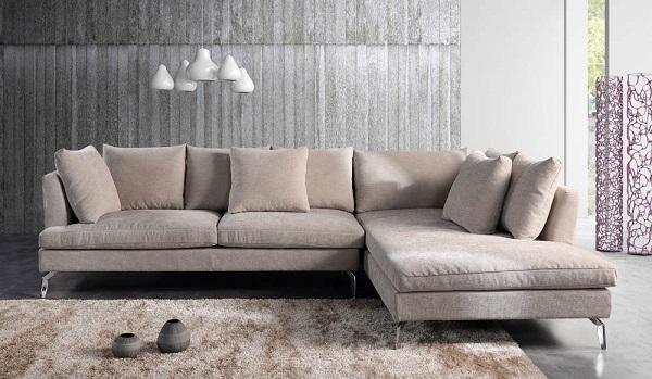 Sofa góc chữ L vải nỉ giúp khách hàng dễ dàng vệ sinh, bảo quản và luôn mang lại cảm giác thư thái trọn vẹn nhất.