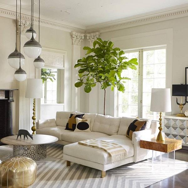 Với phần chân gỗ khác biệt, mẫu sofa góc chữ L tạo nên một vẻ đẹp phá cách đầy ấn tượng.