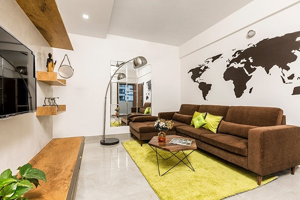 Chân trụ tròn sofa vừa mang lại sự an toàn, chắc chắn vừa giúp sofa trở nên mềm mại và thanh lịch hơn.