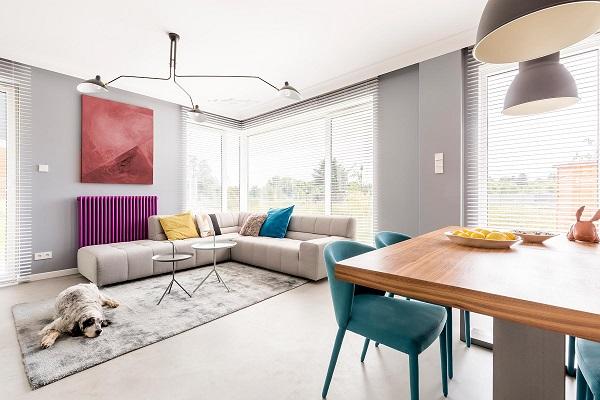 Mẫu sofa góc 3m chữ V này có thiết kế gọn gàng, thanh lịch rất phù hợp với những không gian hiện đại. Thiết kế chữ L này giúp bạn có thể kê sát sofa vào các bức tường giúp tiết kiệm diện tích lại tăng tính thẩm mỹ