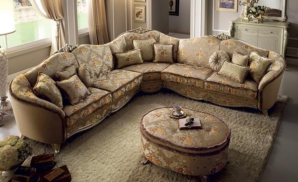 Đem đến những dấu ấn với thiết kế độc đáo, bắt mắt, sofa góc 3m chữ V với các hoa văn cổ điển đã khiến nhiều khách hàng không thể rời mắt ngay từ cái nhìn đầu tiên. Mọi họa tiết, đường nét trên chất liệu vải dệt cao cấp đều thể hiện sự quyền uy, quý tộc của gia chủ.