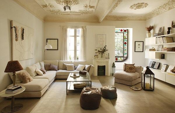 Sofa góc 3m chữ L này có màu sắc chủ đạo là màu kem, đây làm gam màu rất dễ phối hợp với các màu sắc của nội thất khác, đem đến một tổng thể không gian hài hòa, ưa nhìn.