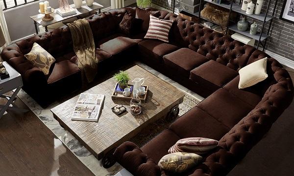 Thiết kế bằng vải nhung thời thượng, mẫu sofa này thực sự là một tiêu chuẩn mà các nhà phong cách cổ điển đang muốn hướng tới
