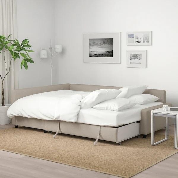 Sofa góc giường là loại sofa góc có thể từ ghế biến thành một chiếc giường cơ động nhờ thiết kế linh hoạt