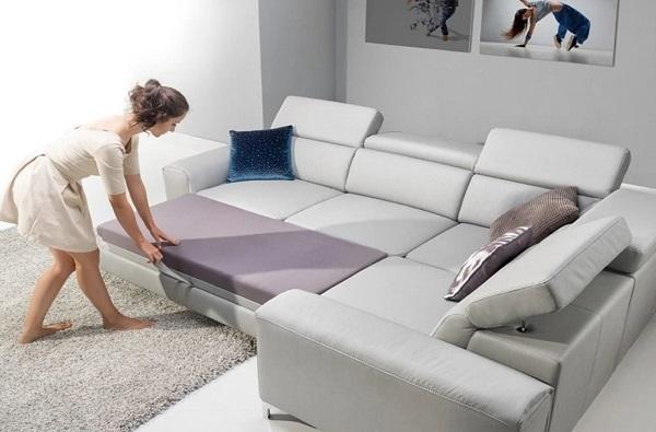 Với thiết kế đa năng cùng màu xám sáng thanh lịch, tím ghi nhẹ nhàng, mẫu sofa này có thể mang lại tiện ích tối đa cho người dùng, giúp tiết kiệm diện tích khá nhiều và phù hợp với những căn phòng hiện đại thiết kế thông minh