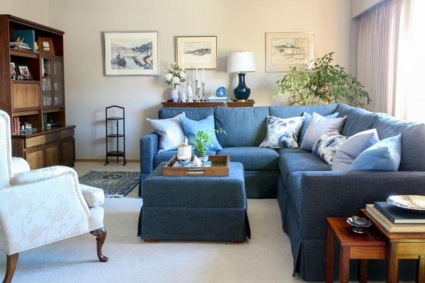 Nhờ sử dụng chất liệu vải bố bền chắc, ít mài mòn khi giặt mà ghế sofa góc này sẽ trông như mới dù đã qua nhiều lần giặt và người dùng không cần lo về độ bền sản phẩm
