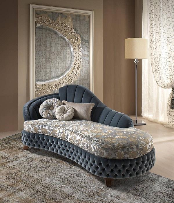 Sofa được tô điểm từng chi tiết khá tinh tế mang đến một vẻ đẹp độc đáo, mới lạ.