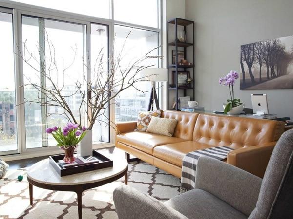 Chỉ với những hoa văn tròn nhỏ ở phần lưng, mẫu sofa văng đã mang lại vẻ đẹp vô cùng mới lạ, độc đáo.