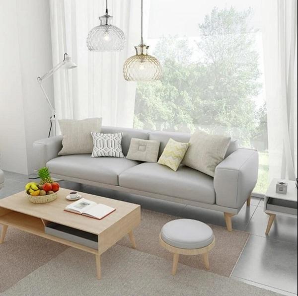 Mẫu sofa da màu xám nhạt này chính là sự lựa chọn hoàn hảo cho những ai yêu thích vẻ đẹp tự nhiên, nhẹ nhàng, sang trọng