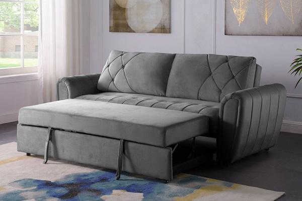 Do được cấu tạo từ phần nện dày dặn, phần khung đỡ chắc chắn nên chiếc giường được tạo ra từ mẫu sofa văng giường kéo này cũng vô cùng thoải mái và chắc chắn