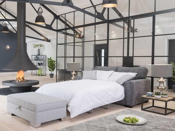 Phần đệm ghế tiện dụng và đa năng có thể biến thành giường chính là ưu điểm tuyệt vời mà mẫu sofa văng giường này mang lại cho người dùng