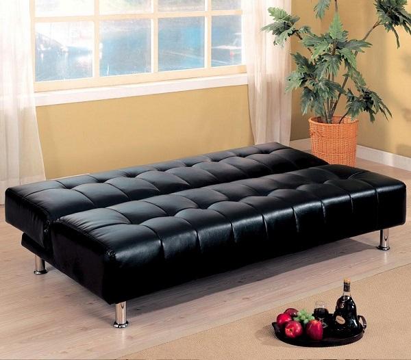 Khi dựng thành ghế lên sẽ thành sofa, kéo thành ghế xuống sẽ thành giường, mẫu sofa này tiện lợi vô cùng
