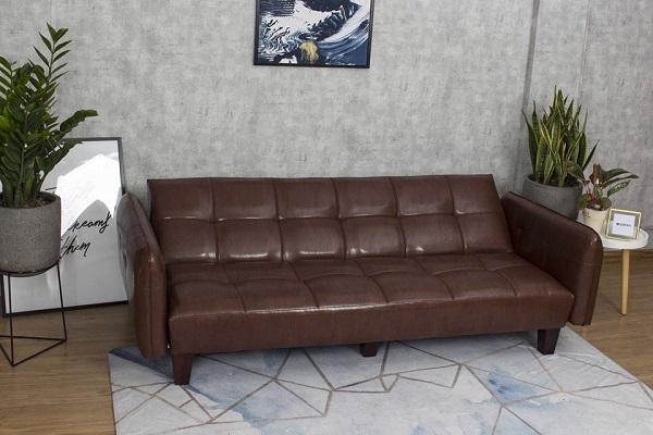Phần lưng sofa văng giường thiết kế linh hoạt giúp người dùng dễ dàng điều chỉnh để phù hợp với các tư thế khác nhau