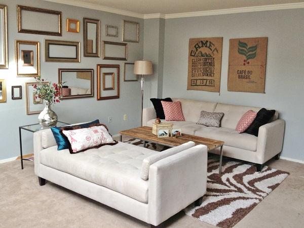 Mỗi một bộ sofa văng giường trắng xám ở trên đều có đệm dày êm ái, nhấn chấm tinh tế và chân gỗ dày nâng đỡ mang lại sự thoải mái, chỗ nằm/ngồi chắc chắn cho người dùng