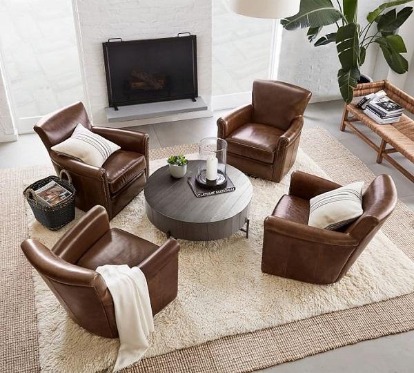 Mẫu sofa da đơn này không chỉ mang lại cảm giác êm ái, thoải mái mà còn tạo nên một không gian nghỉ ngơi hiện đại, cá tính.