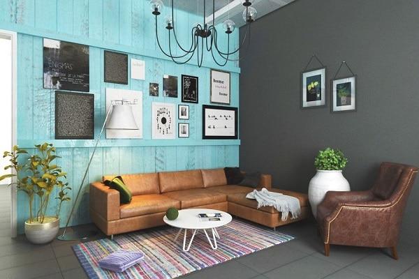 Mẫu sofa da mini này sẽ mang đến cho bạn một không gian vintage hoàn hảo cho căn phòng