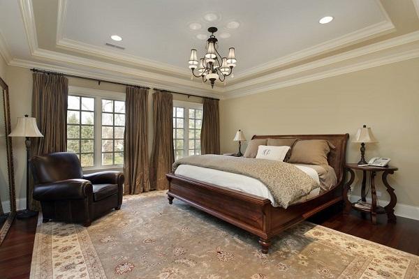 Mẫu ghế sofa da phòng ngủ đơn màu đen này thích hợp để bày ở góc căn phòng, cạnh cửa sổ, hướng chéo so với giường ngủ làm chỗ nghỉ ngơi đầy quyền lực cho gia chủ.