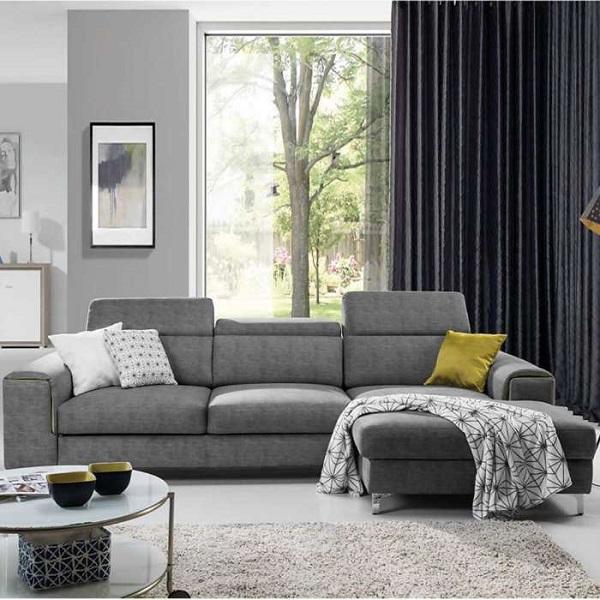 Gam màu xám trung tính giúp sofa góc L nhỏ mang lại vẻ đẹp hiện đại mà vẫn tiện nghi cho không gian sống.