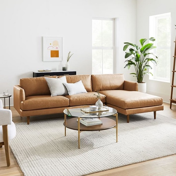 Phần đệm được làm bằng loại mút chất lượng cao, đàn hồi tốt, chống xẹp lún trong quá trình sử dụng nên mẫu sofa này trông sẽ luôn luôn mới