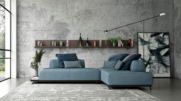 Phía bên trái sofa góc có hẳn một phần khung gỗ thừa ra tạo thành bàn nhỏ giúp người dùng dễ dàng bài trí lọ hoa nhỏ và vài quyển sách tô điểm vẻ đẹp và tăng tính tiện dụng cho mẫu ghế
