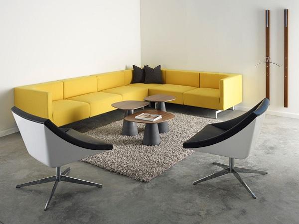 Bạn có thể kết hợp với bàn cà phê, ghế đơn để có được khu vực chung cho nhân viên tiện nghi và hiện đại nhất.