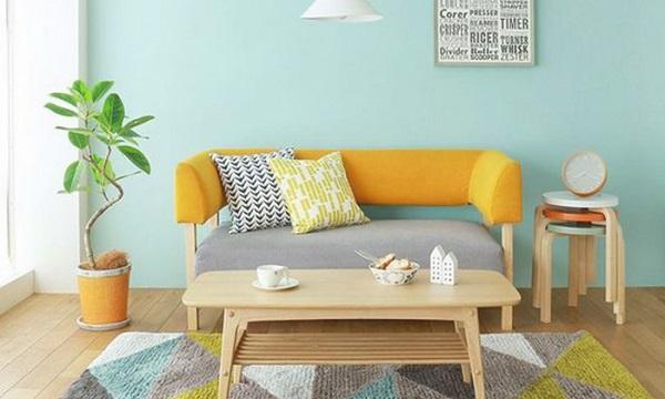 Những chiếc ghế sofa văng 1m2 thiết kế đơn giản, sang trọng thanh lịch, tông màu sáng sẽ giúp phòng khách trông đẹp hơn
