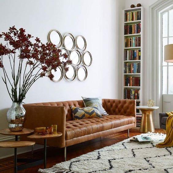 Sofa văng đơn thường được thiết kế dưới hình dạng chữ I với đệm ngồi liền mạch