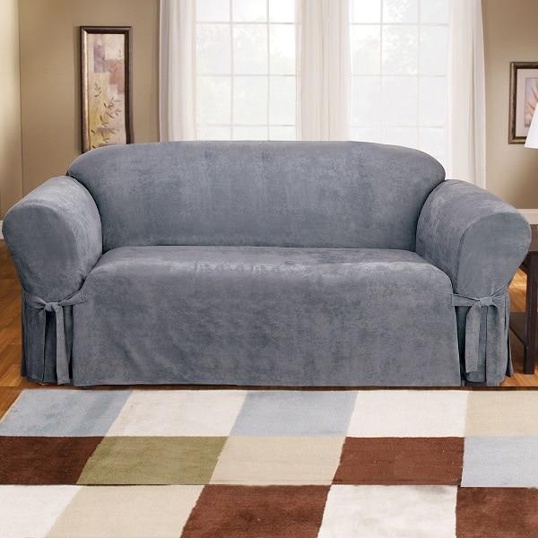 Sofa văng đơn da lộn có thiết kế đơn giản, nhỏ gọn giúp bạn tiết kiệm tối đa không gian sống
