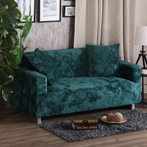 Được làm từ da lộn có thiết kế nhỏ gọn, linh hoạt cùng màu xanh lá đậm kết hợp với họa tiết hoa hồng rực rỡ mang đến không gian sống hiện đại cho gia đình bạn.