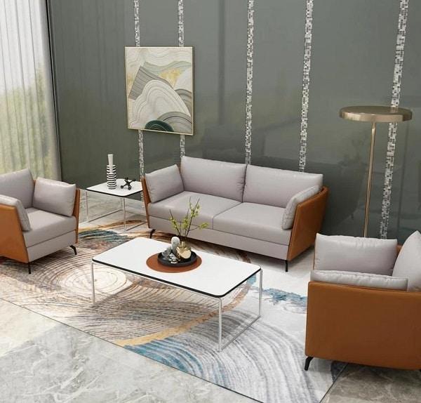 Bàn trà là nội thất không thể thiếu giúp tạo nên một bộ sofa tiếp khách hoàn hảo.