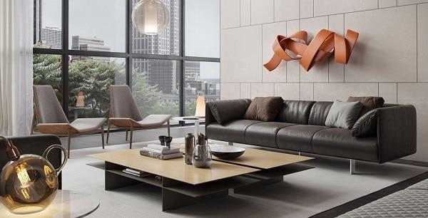 Họa tiết rút chỉ mang lại sự độc đáo, phá cách cho thiết kế sofa.