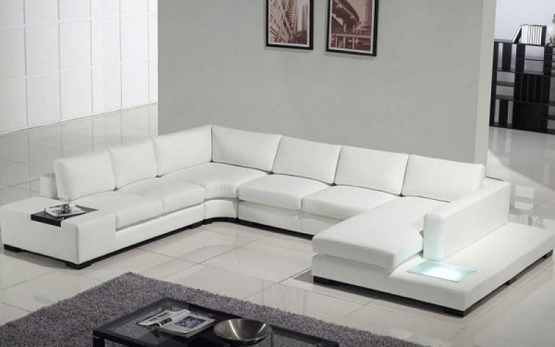 Mẫu sofa chữ U có kích thước đặc biệt dành cho không gian rộng lớn