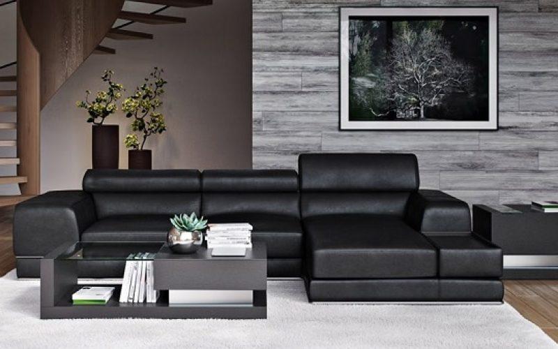 Gây ấn tượng với thiết kế 2 chiều vừa có thể sử dụng để ngồi tiếp khách và sử dụng để nằm nghỉ ngơi, thư giãn. Bộ ghế sofa da màu đen kiểu dáng chữ L hiện đại, kích thước nhỏ gọn giúp bạn dễ dàng bài trí trong mọi không gian.